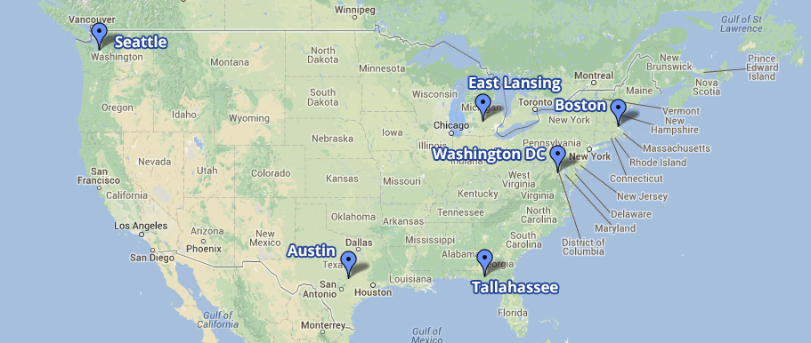 Asher Student Foundation Locations Map